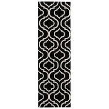 Black White Runner Rug Arabesque Blue Hall Runner Image 1 The Factory Pinterest