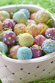 easter egg display easter egg cake balls skinnytaste