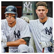 18 Best Aaron Judge Collectibles Images On Pinterest New York - judge and sanchez the future of the new york yankees yankeessss