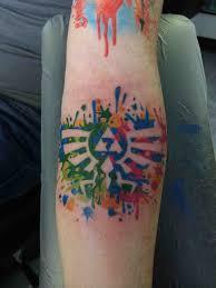 my first tattoo legend of zelda watercolour design by lauren