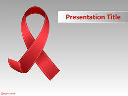 free aids powerpoint template 5618