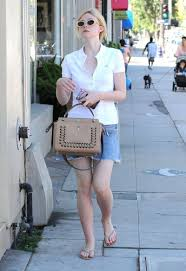 elle fanning outside a nail salon in west hollywood celebzz