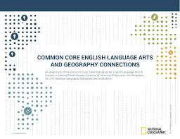 common core english language arts and geography connections