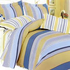 Yellow Bedding Set Blue And Yellow Comforter Sets Stripes California King Set With