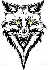 fox head tattoo stock vector art 535069989 istock