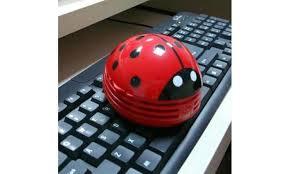 Ladybug Desk Accessories Up To 63 On Mini Handheld Ladybug Vacuum Groupon Goods