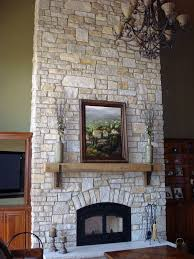 Stone Wall Living Room Exterior Design Appealing Halquist Stone With Fireplace Design