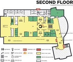 university library floor plan rowan university library