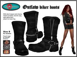 womens leather biker boots sale second marketplace maycreations outlaw biker boots for