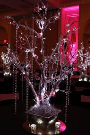silver tree with hanging crystals silver tree with hanging
