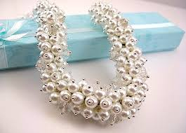pearl crystal statement necklace images White pearls crystal chunky bib statement bold cluster necklace jpg