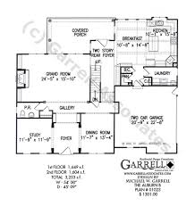 Contemporary Floor Plan by Cottage House Plans Emerson 30108 Associated Designs 3 Story A
