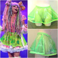 lady gaga artrave neon green plastic see through by lingeriebomb