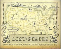 Giant Map Of The United States by The Fort Worth Gazette On Books Lost States You Never Heard Of