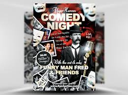 free comedy flyer template psd