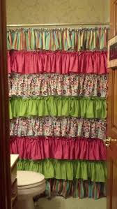 Teal Ruffle Shower Curtain by 85 Best Ruffle Shower Curtain Images On Pinterest Ruffled Shower