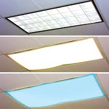 Fluorescent Ceiling Light Covers Classroom Light Filters