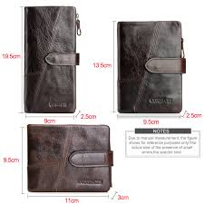 Cowhide Rs Crazy Horse Cowhide Leather Men Wallets Fashion Purse With Card