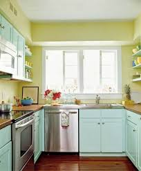 Blue Kitchen Walls by Green And Yellow Painted Kitchen Walls Decor Us House And Home
