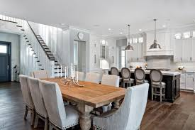 large beach style kitchens with an island look like family room
