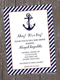 baby shower invitations best nautical themed baby shower