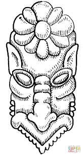 tibetian mask coloring page free printable coloring pages