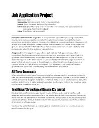 how to create a cover letter for a resume downloads for teachers assignment descriptions the visual this assignment requires students to create four documents in preparation for applying for jobs a traditional resume a creative resume a cover letter