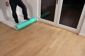 Protecting Laminate Flooring Temporary Hard Floor Protection Premium Self Adhesive Fleece Wood