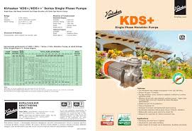 Single Phase Water Pump Motor Price All Kirloskar Brothers Ltd Catalogues And Technical Brochures