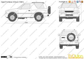 opel frontera 1995 the blueprints com vector drawing opel frontera 3 door