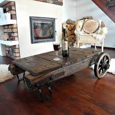 industrial coffee table with wheels best vintage industrial coffee tables products on wanelo