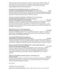 Sample Event Manager Resume by Production And Events Coordinator Resume