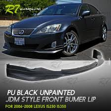 jdm lexus is250 for 06 08 lexus is250 350 front bumper lip chin splitter valance