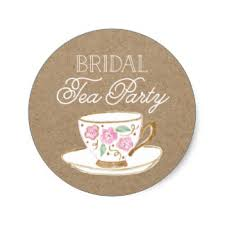 bridal tea party bridal tea party stickers zazzle co nz