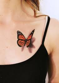 3d small butterfly photo feather design idea for and