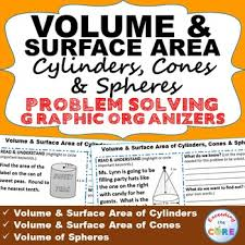 volume and surface area cylinders cones spheres word problems tpt