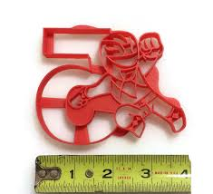 celebrate it cookie cutters power rangers holding the number 5 cookie cutter fondant cutter