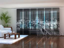 Sliding Panel Curtains Set Of 6 Sliding Panel Curtains By Wellmira Cologne Skyline Ebay