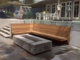 custom outdoor fire pits custom contemporary fire pit and built in bench contemporary