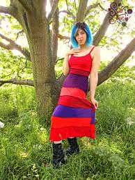 sewfae u2014 sale colourful upcycled patchwork maxi dress strappy red