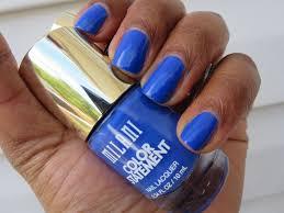 notd milani color statement nail polish blue print