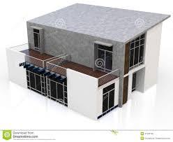 3d modern duplex house stock illustration image 47284160