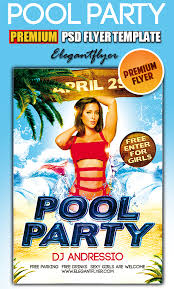 pool party psd flyer templates facebook cover by webstroy80 on