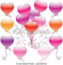 heart balloon bouquet vector illustration of heart balloon bouquet csp7554112 search