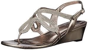 amazon com adrianna papell women u0027s carli wedge sandal