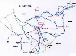 Derbyshire England Map by Deep History Of Cheshire