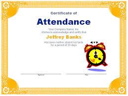 doc 960720 perfect attendance certificate template u2013 perfect