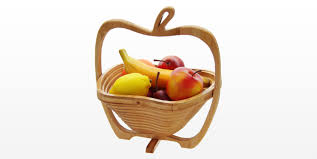 Unique Fruit Bowl Foldable Fruit Basket Bamboo Kitchen Accessories