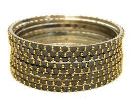 black gold bangle bracelet images Black indian glass bangles jpg