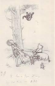 Winnie The Pooh Writing Paper Original Art Stories Winnie The Pooh Pencil Sketches